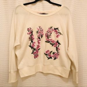Victoria's Secret flower VS sweatshirt